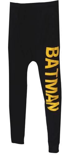 WebUndies.com Batman Classic Logo Black Jogger Pants
