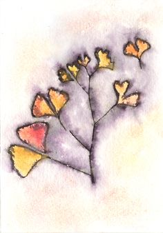 "Created with my 6""X6"" stencil GINGKO, available here:  http://www.stencilgirlproducts.com/product-p/s076.htm"