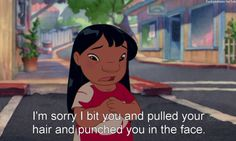 Lilo and Stitch my favorite show ever Disney Love, Disney Magic, Disney Pixar, Disney Stuff, Funny Cute, The Funny, Hilarious, Lilo And Stitch 3, Punch In The Face
