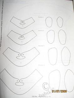 Выкройки обуви для кукол / Мастер-классы, творческая мастерская: уроки, схемы, выкройки кукол, своими руками / Бэйбики. Куклы фото. Одежда для кукол