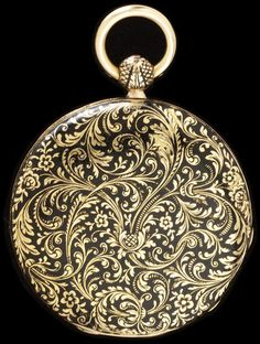 Enamelled Gold Watch Made By Guyerdet (ainé), Watchmaker  - Paris, France    c.1819-1838