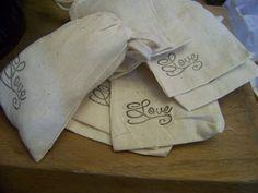 Wedding Favor Muslin Drawstring Bags  12 bags by sugarplumcottage, $12.95