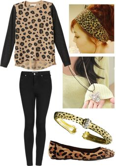 """Cheetah Print"" by shayla-abogado ❤ liked on Polyvore"