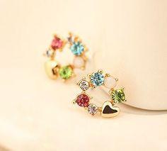 Rainbow of Heart Fashion Earrings | LilyFair Jewelry, $10.99!