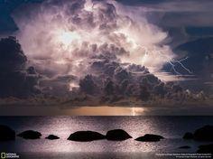 Lightning in Vergi Port. (Photo and caption by Kristjan Madalvee/National Geographic Photo Contest)