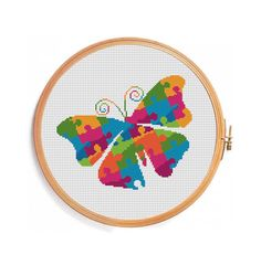 Butterfly cross stitch pattern instant por PatternsCrossStitch