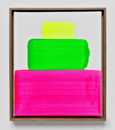 Fat neon stripes by Martin Creed