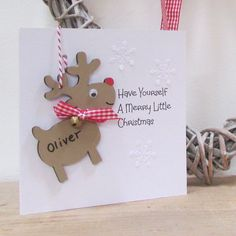 Christmas card with detachable personalised decoration