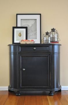 The Painted Hive   Nautical Cabinet Makeover