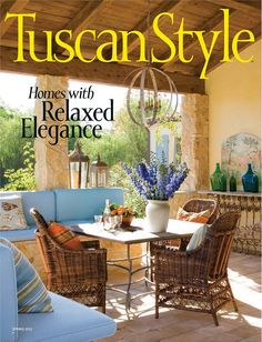 bright and beachy colors combine with rustic tuscan style. A bright painting of tuscany by the ocean can provide the color palette and tie in pastels and more modern colors with the antique-rustic-ornate tuscan style. Tuscan Decorating, Interior Decorating, Interior Design, Decorating Ideas, Decor Ideas, Tuscany Decor, Vignette Design, Style Magazin, Bright Paintings
