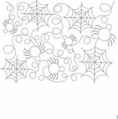 Halloween Longarm Quilting Patterns Cafca Info For Quilting Stencils, Quilting Templates, Longarm Quilting, Free Motion Quilting, Quilting Projects, Quilting Ideas, Quilting Stitch Patterns, Quilt Stitching, Quilt Patterns