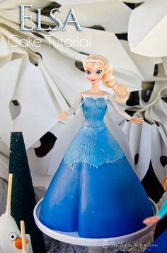 tutorial to create your own Elsa princess(and Ana) cake for your Frozen birthday party by imtopsyturvy.com, via Flickr
