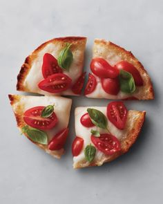Really easy mini pita pizza for healthy after school snacking or a good light lunch.