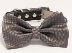 Charcoal Dog Bow Tie, Pet wedding accessory, Dog Lovers, wedding idea, Charcoal Wedding, Dog Lovers