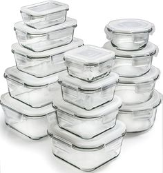 Tupperware Option 3. Glass -   do we want glass? Probably only need one set of these ones. Glass is great for most days, but i would prefer plastic for traveling and/or hiking. Perhaps we get a big set of glass and a small set of plastic?     Amazon.com: Glass Storage Containers with Lids - Glass Food Storage Containers Airtight - Glass Containers With Lids - Glass Meal Prep Containers Glass Food Containers - Glass Lunch Containers [26 Pieces]: Kitchen & Dining