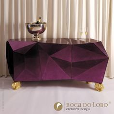 More than prominent is the phrase 'diamonds are forever' and it could not be excluded from Boca do Lobo's wide range of inspiration sources for its luxury furniture design.