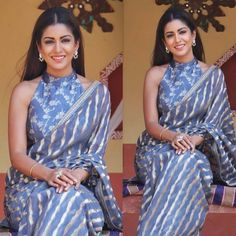 Designer Saree Blouses, Silk Saree Blouse Designs, Fancy Blouse Designs, Blouse Neck Designs, Kurta Designs, Trendy Sarees, Stylish Sarees, Stylish Blouse Design, Saree Trends