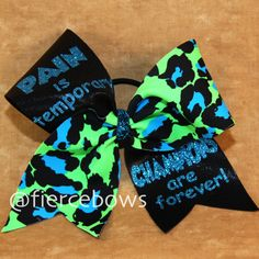 Cheer Bow by MyFierceBows on Etsy, $13.00
