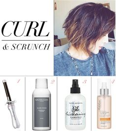 "#chrisellelim curl and scrunch, how to style short hair for the tousled ""just got out of bed"" look"
