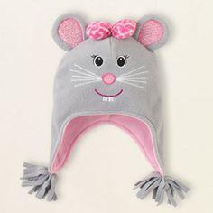 fleece mouse hat