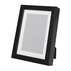 """IKEA - RIBBA, Frame, 5x7 """", , Can be used hanging or standing, both horizontally and vertically, to fit in the space available.The mat is acid-free and will not discolor the picture.Can also be used without mat, to take a larger picture."""