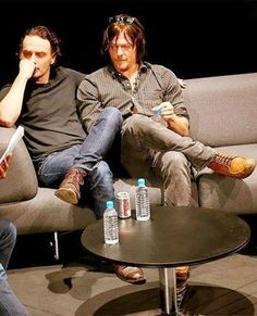 ARTICLE: 'The Walking Dead' stars Norman Reedus and Andrew Lincoln cuddle on a couch