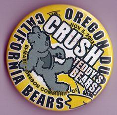 Nov 8 2003 Oregon Ducks Vs California Bears Football Button