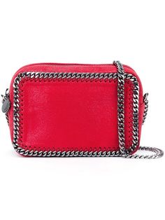 STELLA MCCARTNEY 'Falabella' Top Zip Crossbody Bag. #stellamccartney #bags #shoulder bags #leather #polyester #crossbody #lining #