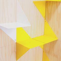 3D folded metal bookshelf White  Adonde