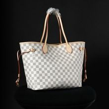 4f8849331750 Louis Vuitton 1 1 Grade Damier Azur Canvas Neverfull MM - White N51107   188.30