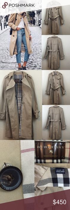 """Burberry trench coat Burberry trench coat 100% authentic worn only a couple times no flaws. Size 10 Measurements are taken while coat is buttoned up. Pit to pit measures 19"""". Waist is appx. 20"""" but has the belt to tighten up. Total length is 39 1/2"""" sleeve from pit to hem of sleeve is 17"""". Retails for $1495 Burberry Jackets & Coats Trench Coats"""