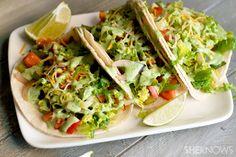 Summer veggie tacos with spicy avocado sauce