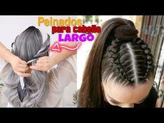 PEINADOS SENCILLOS EN MINUTOS PARA CABELLO LARGO - YouTube Dreadlocks, Hair Styles, Beauty, Youtube, Loose Hair, Long Hair, Cute Hairstyles, Dutch Braids, Step By Step Hairstyles