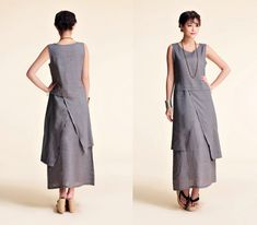 Etsy Transaction - Plum Blossoms/ Asian- style Linen Long Dress with its Skirt in Two Layers/ 21 Colors/ RAMIES Style Asiatique, Vetements Clothing, Pull Court, Sweater And Shorts, Sweater Jacket, Asian Style, Linen Dresses, Sewing Clothes, Cool Outfits