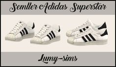 My Sims 4 Blog: TS3 Adidas Superstar Conversion by LumySims