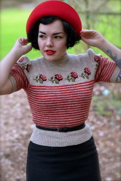 This sweater is lovely, this sort of thing might even inspire me enough to do some more fair isle knitting.