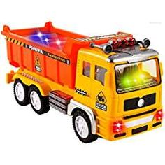 WolVol Electric Dump Truck Toy for Kids with Stunning Flashing Lights and Sounds Music, Bump and Go Action Changes Directions on Contact Play Vehicles, Dump Truck, Toy Trucks, Sound Of Music, Kids Toys, Electric, Action, High Speed, Bump