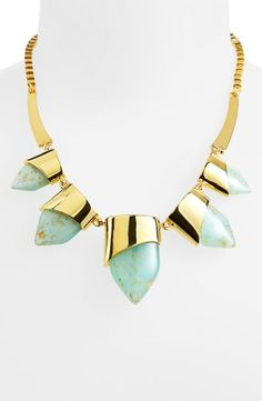 Gold and bold! This necklace is stunning.