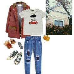 ~ by xythly on Polyvore featuring FrenchTrotters, Converse, Emile et Ida, grunge and autumn