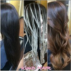during and after balayage