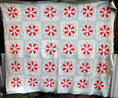ANTIQUE QUILT COMPASS COTTON QUILTED PATCHWORK VINTAGE QUILTS HANDMADE FULL 1880 | eBay
