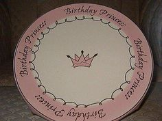 Birthday Princess, one of my favorite plates