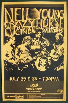Concert poster Neil Young