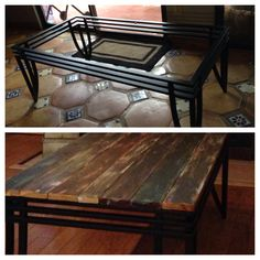 Old Glass Topped Coffee Table (free). I Cut Up Molding That We