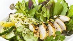 Filet z piersi kurczaka z ziemniakami i zieloną sałatą / Chicken breast fillet with potatoes and a green salad w-condimenta #healthyfood #food #healthycooking #econdimenta
