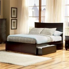 Atlantic Furniture AP8732001 Miami Platform Bed Accepts underbed drawers. Eco-friendly solid hardwood. Hook and pin assembly. Assembly Required Medium. Style Contemporary.