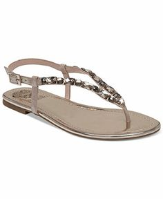 Vince Camuto Macha Bling Thong Sandals Shoes - Sandals   Flip Flops - Macy s 8cf0dc15b240