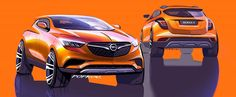 Official Opel Mokka X sketches by Artem Popkov