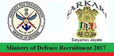 Ministry of Defence Recruitment 2018 – Apply online for Trade Man Mate posts Application forms will be submitted in the format prescribed by organization.