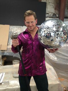 Watch Jason Cameron DANCE and SMASH a disco ball.